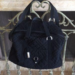 Black Vera Bradley travel bag